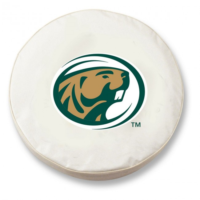 Bemidji State Logo Tire Cover White