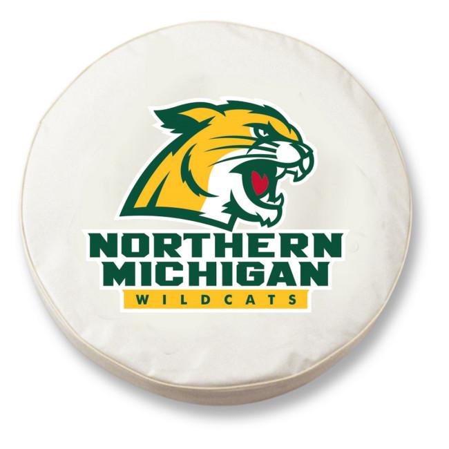 Northern Michigan University Logo Tire Cover White