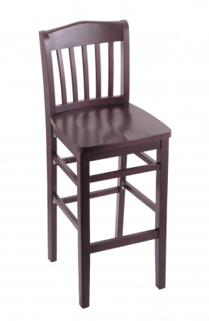 Hampton Series Bar Stool in Dark Cherry Finish