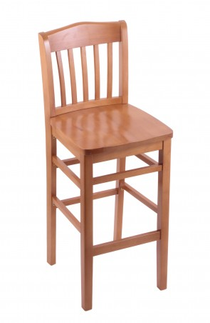Hampton Series Bar Stool in Medium Finish