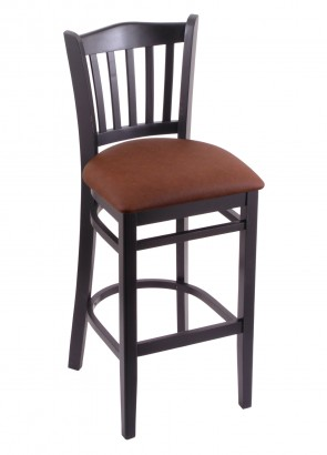 Hampton Series Bar Stool in Black Finish