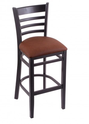 3140 Hampton Series Bar Stool in Black Finish