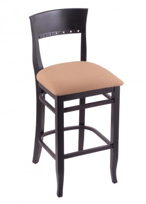 3160 Hampton Series Bar Stool in Black Finish