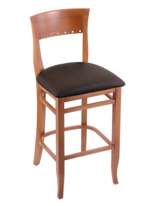 3160 Hampton Series Bar Stool in Medium Finish