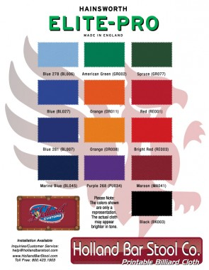 Logo Billiard Cloth Swatches