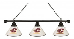 Central Michigan Billiard Lights Black Finish