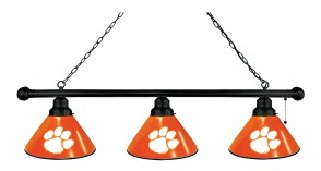 Clemson Billiard Lights Black Finish