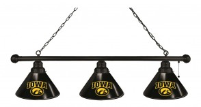 Iowa Billiard Lights Black Finish