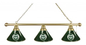Colorado State Billiard Lights Brass Finish