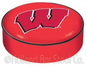 University of Wisconsin - W Block Logo Bar Stool Seat Cover