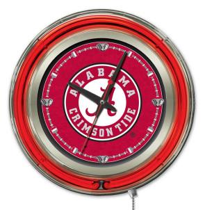 Alabama A Script 15 Inch Neon Clock