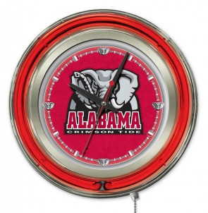 Alabama Elephant 15 Inch Neon Clock