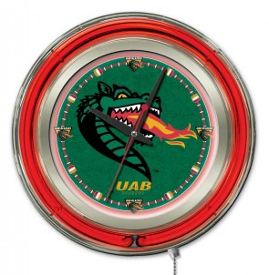 Alabama at Birmingham 15 Inch Neon Clock