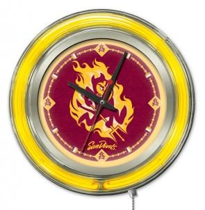 Arizona State Sparky 15 Inch Neon Clock