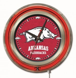 Arkansas 15 Inch Neon Clock