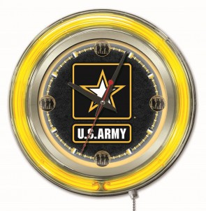 United States Army 15 Inch Neon Clock