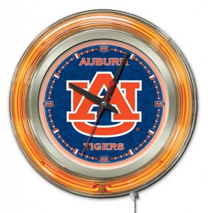 Auburn 15 Inch Neon Clock
