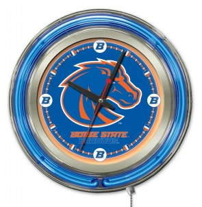 Boise State 15 Inch Neon Clock