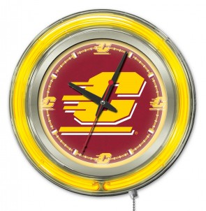 Central Michigan 15 Inch Neon Clock