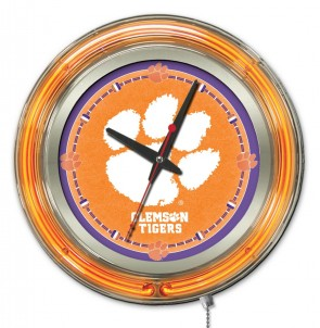 Clemson 15 Inch Neon Clock