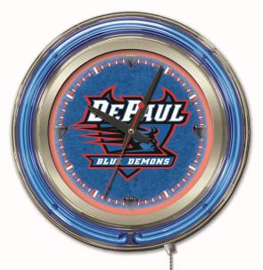 DePaul 15 Inch Neon Clock