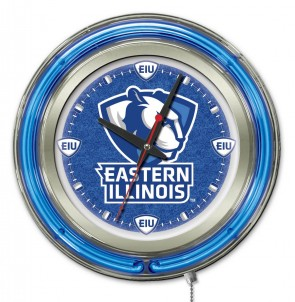 Eastern Illinois 15 Inch Neon Clock