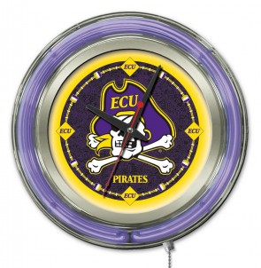 East Carolina University 15 inch Neon Clock