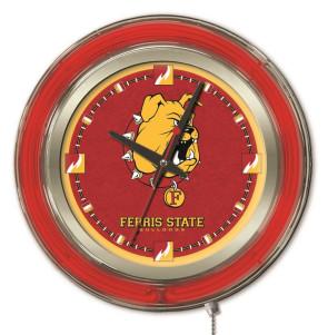 Ferris State 15 Inch Neon Clock