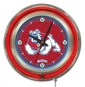 Fresno State 15 Inch Neon Clock