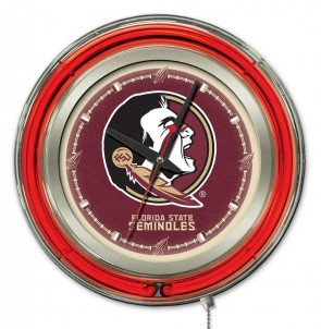 Florida State Seminoles 15 inch neon clock