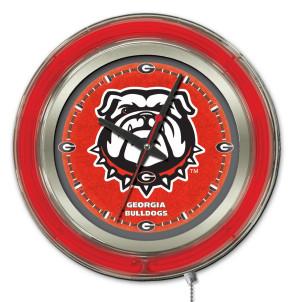 Georgia Bulldog 15 Inch Neon Clock