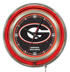 Georgia G 15 Inch Neon Clock