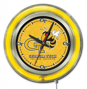 Georgia Tech 15 Inch Neon Clock
