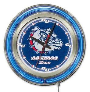 Gonzaga 15 Inch Neon Clock