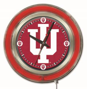 Indiana 15 Inch Neon Clock