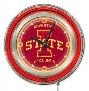 Iowa State 15 Inch Neon Clock