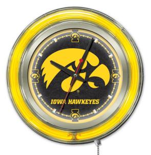 Iowa 15 Inch Neon Clock