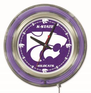Kansas State 15 Inch Neon Clock