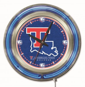 Louisiana Tech 15 Inch Neon Clock