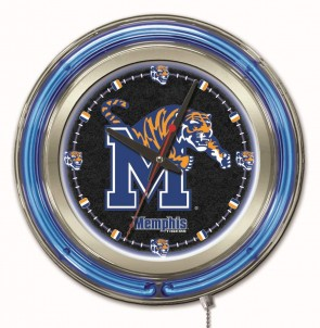 15 Neon University Of Memphis Logo Clock