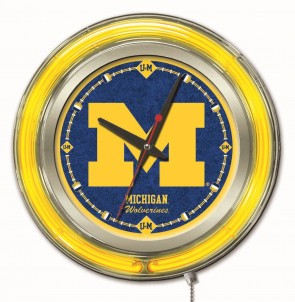 Michigan 15 Inch Neon Clock