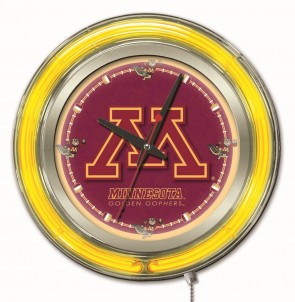 "15"" Neon University of Minnesota Logo Clock"