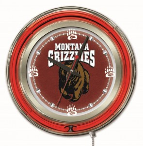 "15"" Neon University of Montana Logo Clock"