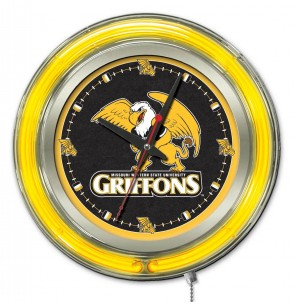 Missouri Western State 15 Inch Neon Clock