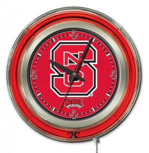 "15"" Neon North Carolina State Logo Clock"