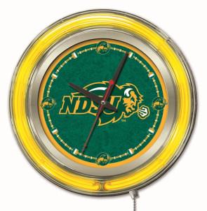 "15"" Neon North Dakota State Logo Clock"