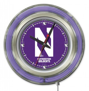 Northestern 15 Inch Neon Clock
