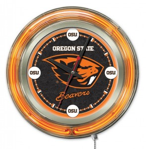 "15"" Neon Oregon State University Logo Clock"