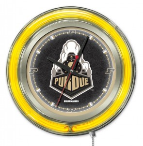 "15"" Neon Purdue University Logo Clock"