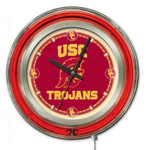 "15"" Neon University of Southern California Logo Clock"